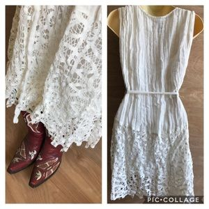 Bride to be off white ruffle knot dress